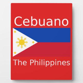 Plaque Photo Langue de Cebuano et drapeau de Philippines