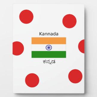 Plaque Photo Langue de Kannada et conception indienne de