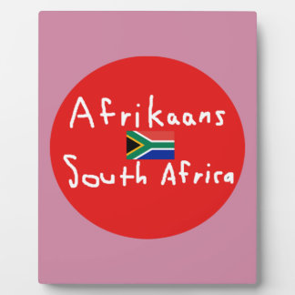 Plaque Photo Langue et drapeau de l'Afrique du Sud d'afrikaans