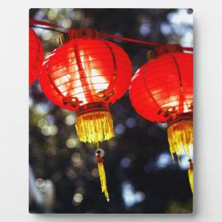 Plaque Photo Lanternes