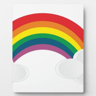 Plaque Photo l'autocollant mignon d'arc-en-ciel opacifie