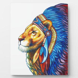 Plaque Photo Le chef de lion