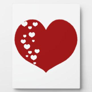 Plaque Photo Le coeur dépiste clair rouge