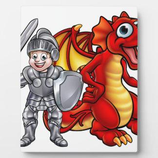 Plaque Photo Le dragon de bande dessinée et adoubent 2017 A3-01