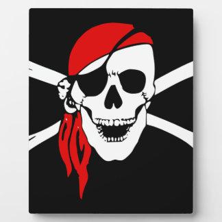 Plaque Photo Le drapeau de pirate désosse le symbole de danger