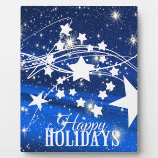 Plaque Photo Le Joyeux Noël de vacances heureuses tient le