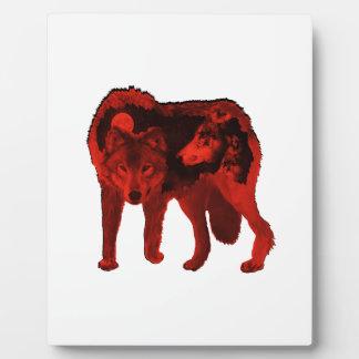 Plaque Photo Le loup en dedans