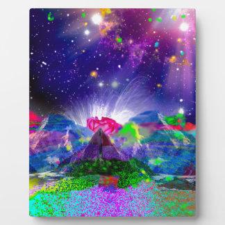 Plaque Photo Les couleurs et les étoiles allument la nuit