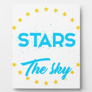 Plaque Photo Les étoiles laissées allument le ciel
