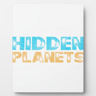 Plaque Photo Les étoiles sont les planètes cachées