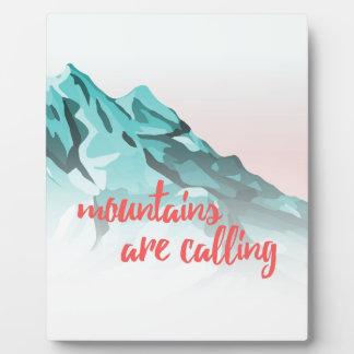 Plaque Photo Les montagnes appellent la conception de