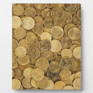 Plaque Photo L'euro invente le marché l'Europe de jaune