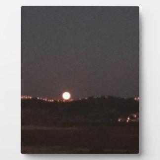 Plaque Photo Lever de la lune sur les collines