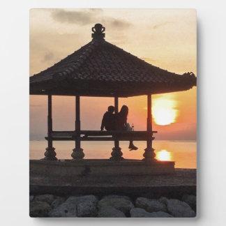 Plaque Photo Lever de soleil dans Bali