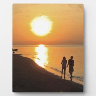 Plaque Photo Lever de soleil de Bali sur la plage