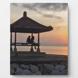 Plaque Photo Lever de soleil de Beautidul dans Bali