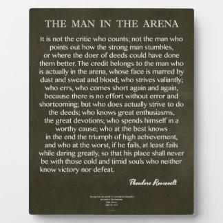 Plaque Photo L'homme dans la citation d'arène par Theodore