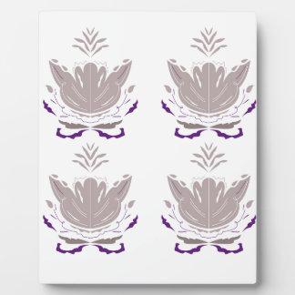 Plaque Photo Lotus gris sur le blanc
