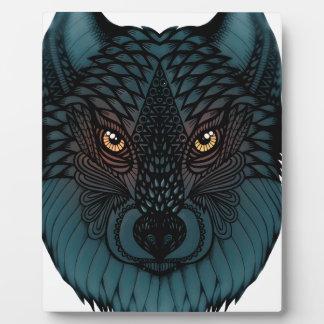 Plaque Photo Loup avec les yeux rougeoyants