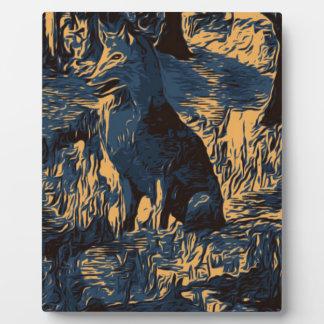 Plaque Photo loup dans les bois