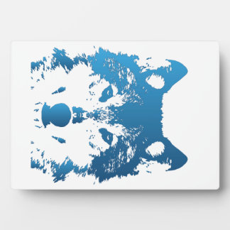 Plaque Photo Loup de bleu glacier d'illustration