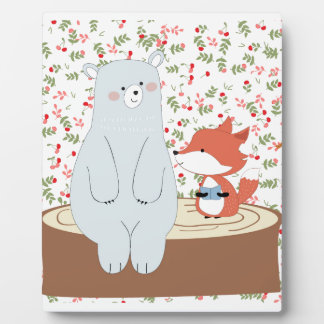 Plaque Photo Loup mignon vintage de renard d'été de ressort et