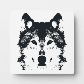 Plaque Photo Loup noir d'illustration