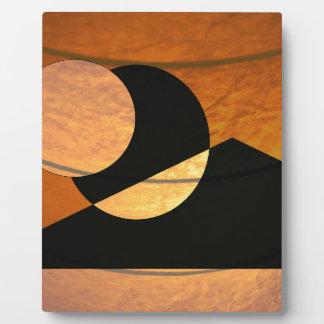 Plaque Photo Lueur de planètes, noir et cuivre, conception