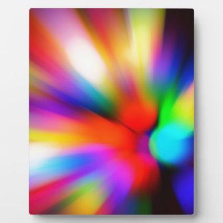 Plaque Photo Lumières multi brouillées de couleur