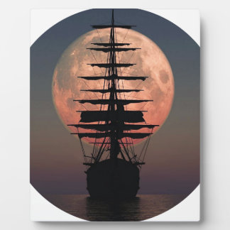 Plaque Photo Lune de pirate de navigation