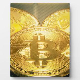 Plaque Photo Macro grand mojo rond de Bitcoins