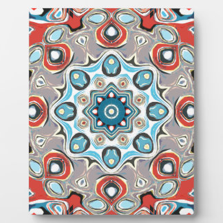 Plaque Photo Mandala abstrait de pastels