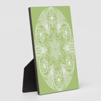 Plaque Photo Mandala de lichen