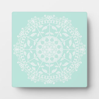 Plaque Photo Mandala en verre de mer