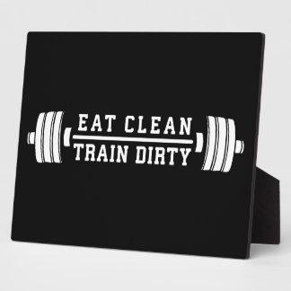Plaque Photo Mangez propre, train sale - séance d'entraînement