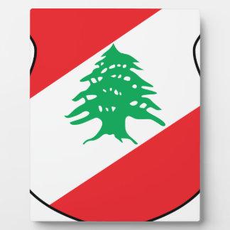 Plaque Photo manteau d'emblème de شعارلبنان des bras libanais