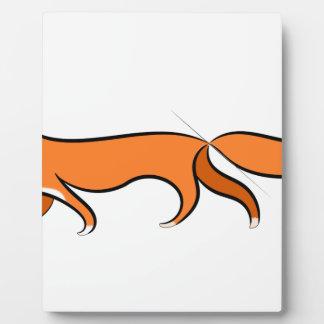 Plaque Photo Marche de Fox