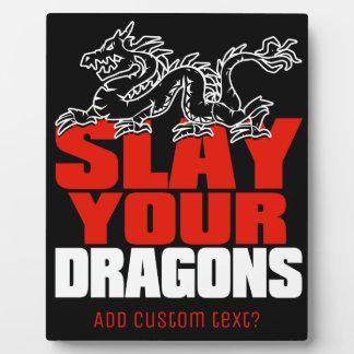 Plaque Photo MASSACREZ VOS DRAGONS, cadeau pour des fans de la
