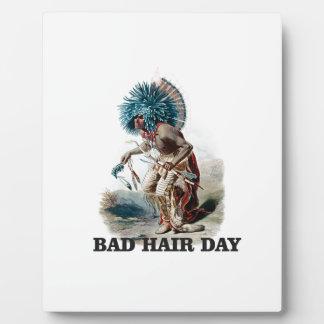 Plaque Photo mauvais jour de cheveux