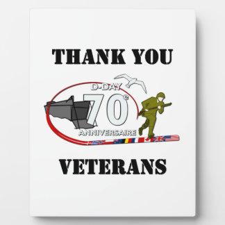 Plaque Photo Merci vétérans - Thank you veterans