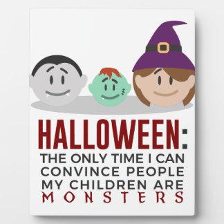 Plaque Photo Mes enfants sont conception de Halloween de
