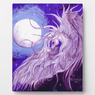 Plaque Photo Mignon pourpre magique de lune de licorne de noir