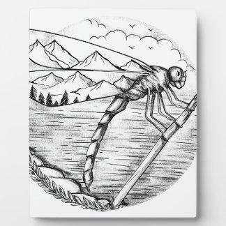 Plaque Photo Montagne de libellule à l'intérieur de tatouage