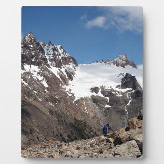 Plaque Photo Montagnes de parc national de glacier, Argentine 2