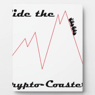 Plaque Photo Montez les cryptos dessous de verre