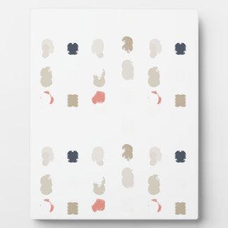 Plaque Photo Motif abstrait de formes dans les couleurs en