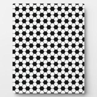 Plaque Photo Motif de football en noir et blanc