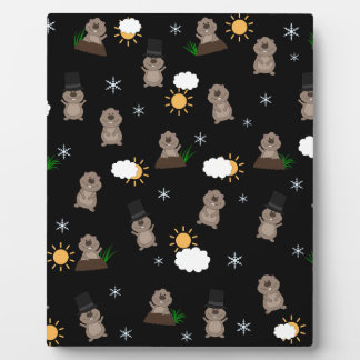 Plaque Photo Motif de jour de Groundhog