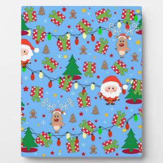 Plaque Photo Motif de Père Noël et de Rudolph