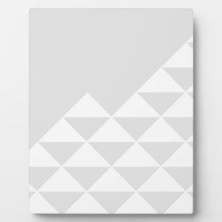 Plaque Photo Motif géométrique abstrait - gris et blanc